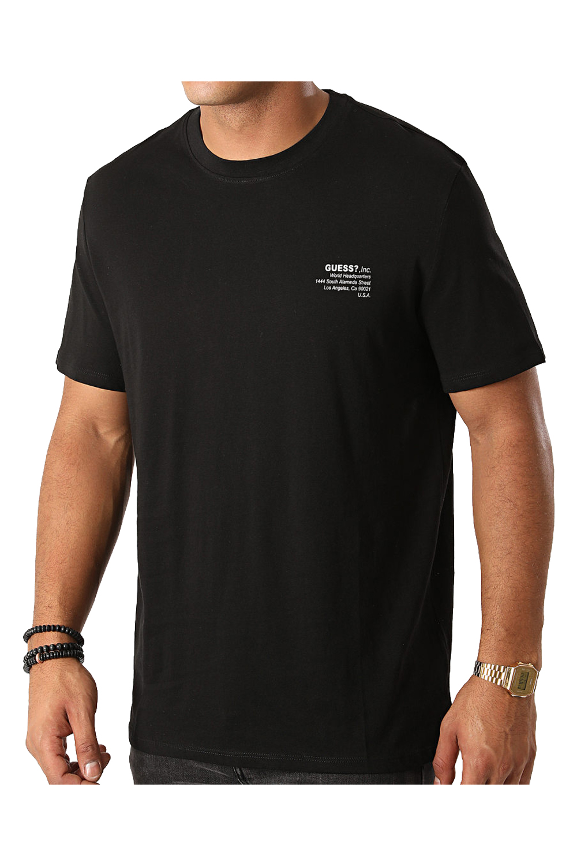 Ανδρική Μπλούζα GUESS M0BI66K8HM0 Μαύρο