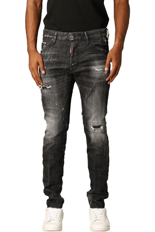 Ανδρικό Παντελόνι DSQUARED2 S74LB0797-S30357-900 Τζιν Μαύρο