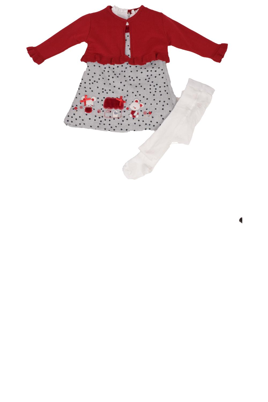 Κοριτσίστικο Σέτ Φόρεμα BEBUS 00616 γκρί