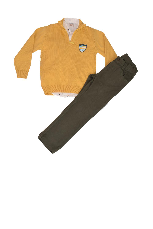 Παιδικό Σέτ Παντελόνι για αγόρι TRAX 0439 κίτρινο