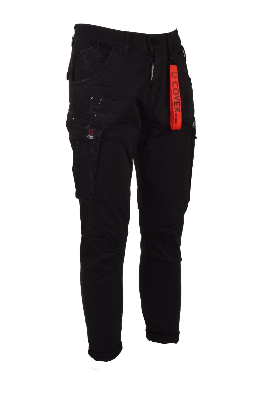 Ανδρικό Παντελόνι Cargo COVER T0185 ELVIS Μαύρο