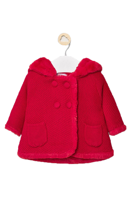 Παιδική ζακέτα για κορίτσι MAYORAL 10-02337-086 Κόκκινη