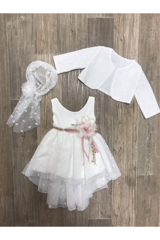 Παιδικό Φόρεμα Βάπτισης Για Κορίτσι MARILLIS HOUSE 200055 Άσπρο