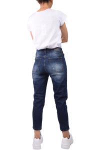 Γυναικείο Παντελόνι Τζιν DAMAGED Y11B Σκούρο