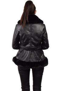 Γυναικεία Δερματίνη P-63083 Μαύρο