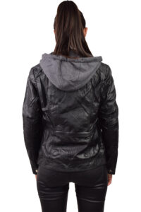 Γυναικείο Μπουφάν Δερματίνη HG-3530 Μαύρο