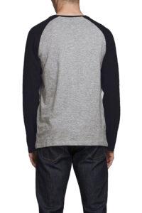 Ανδρική Μπλούζα JACK&JONES 12172365 Μαύρο