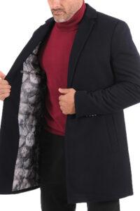 Ανδρικό Παλτό LEONARDO W19LU17010 Μαύρο