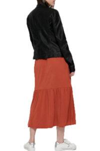 Γυναικείο Μπουφάν Δερματίνη ONLY 15081400 Μαύρο