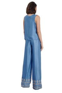 Γυναικείο Παντελόνι PASSAGER NADIA CHALIMOU 29092 Μπλε