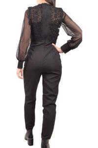 Γυναικεία Ολόσωμη Φόρμα MISS SELENS 17660076 Μαύρο