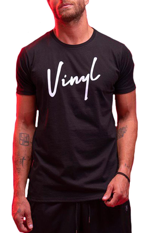 Ανδρική Μπλούζα VINYL 4051201 Μαύρο